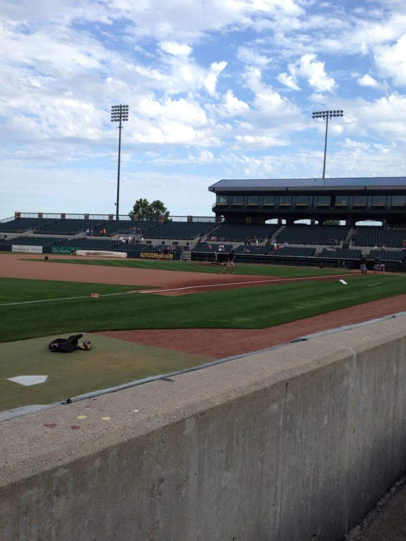 Seating view for Principal Park Section C Row 1 Seat 19