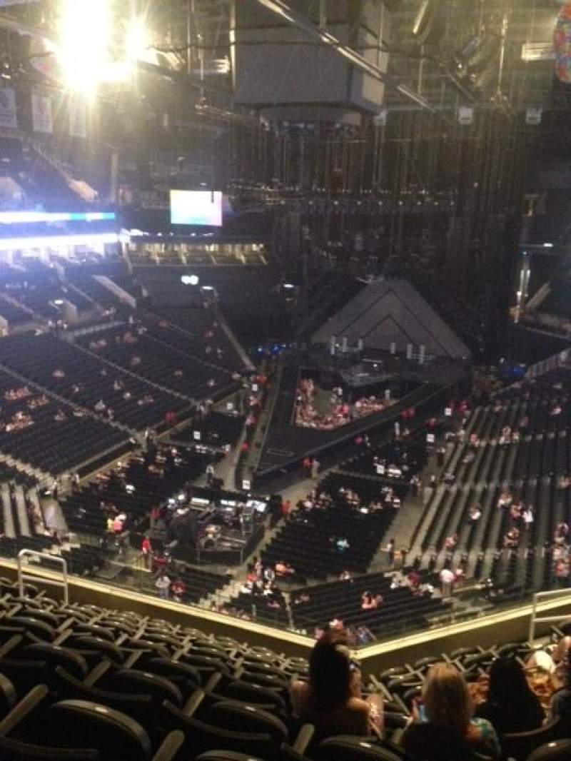 Seating view for Barclays Center Section 214 Row 10 Seat 8-10