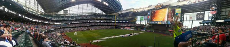 Seating view for Miller Park Section 207 Row 2 Seat 18