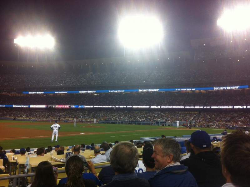 Seating view for Dodger Stadium Section 31FD Row E Seat 1