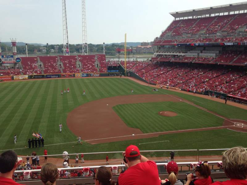 Seating view for Great American Ball Park Section 416 Row E Seat 16