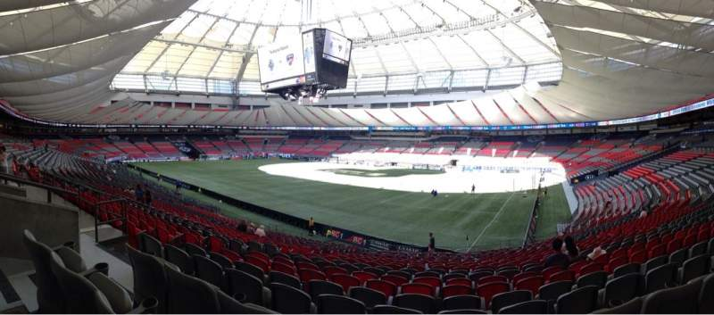 Seating view for BC Place Section 234 Row CC Seat 5