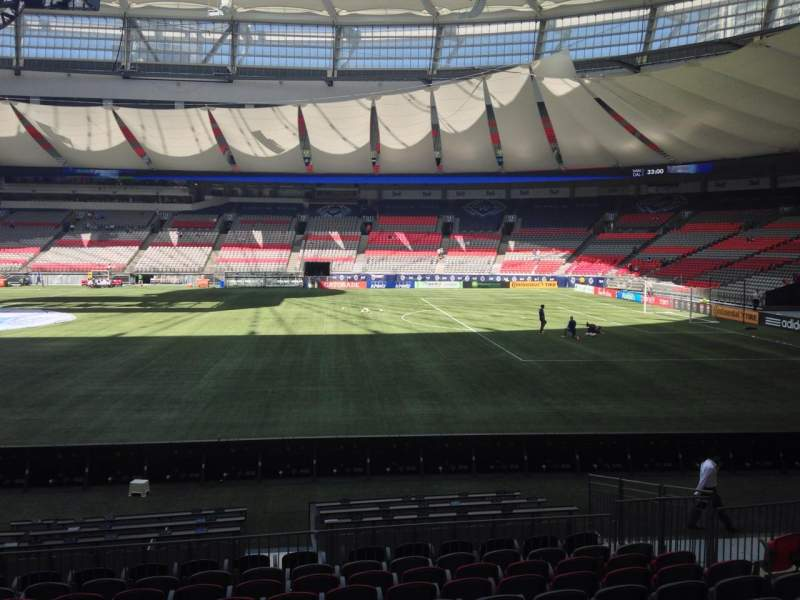 Seating view for BC Place Section 339 Row L Seat 9