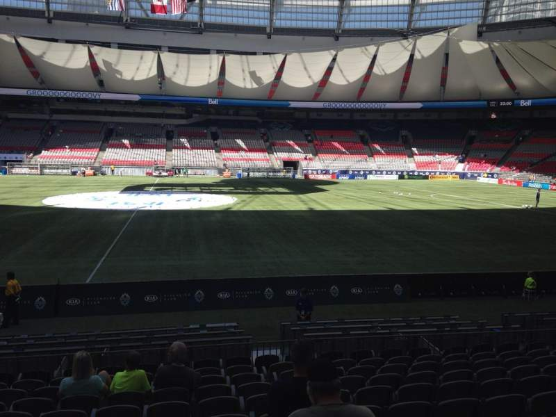 Seating view for BC Place Section 341 Row L Seat 9