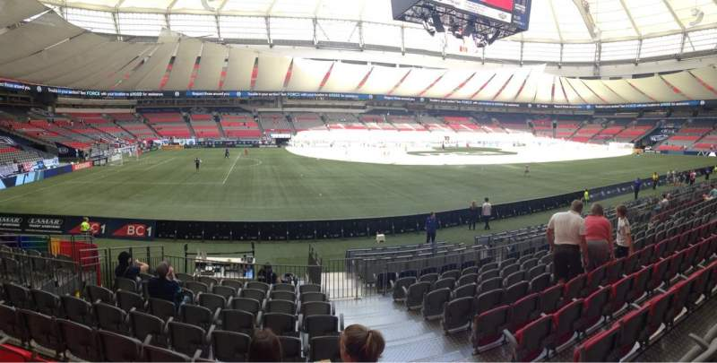 Seating view for BC Place Section 344 Row K Seat 101