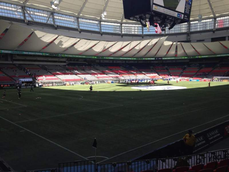 Seating view for BC Place Section 248 Row J Seat 1