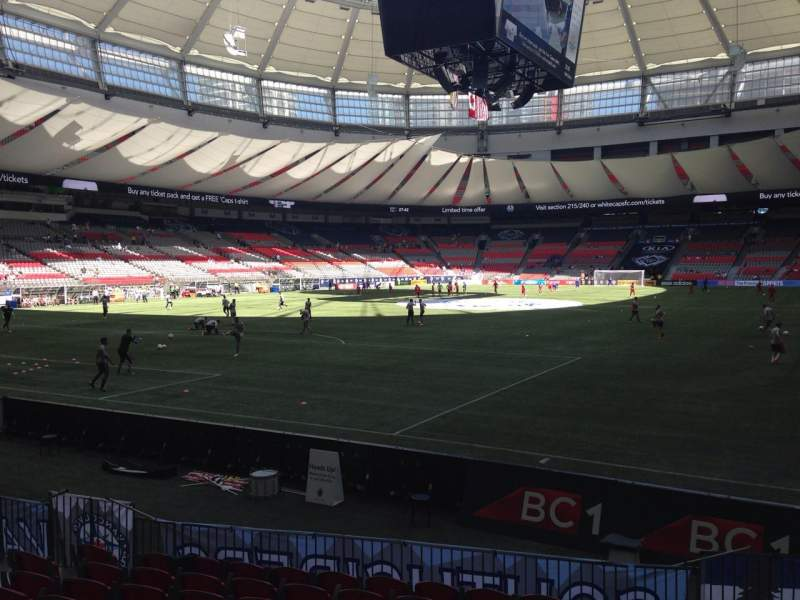 Seating view for BC Place Section 251 Row F Seat 102