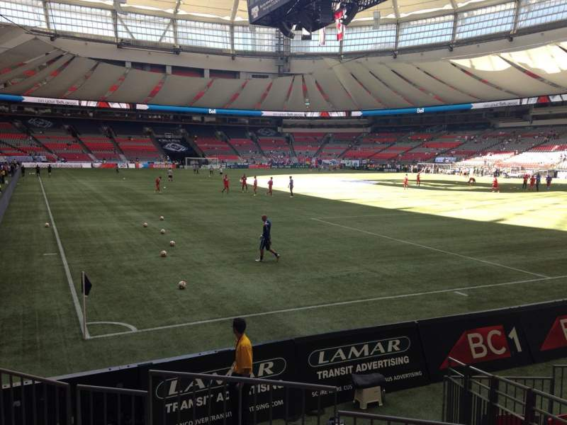 Seating view for BC Place Section 233 Row E Seat 2