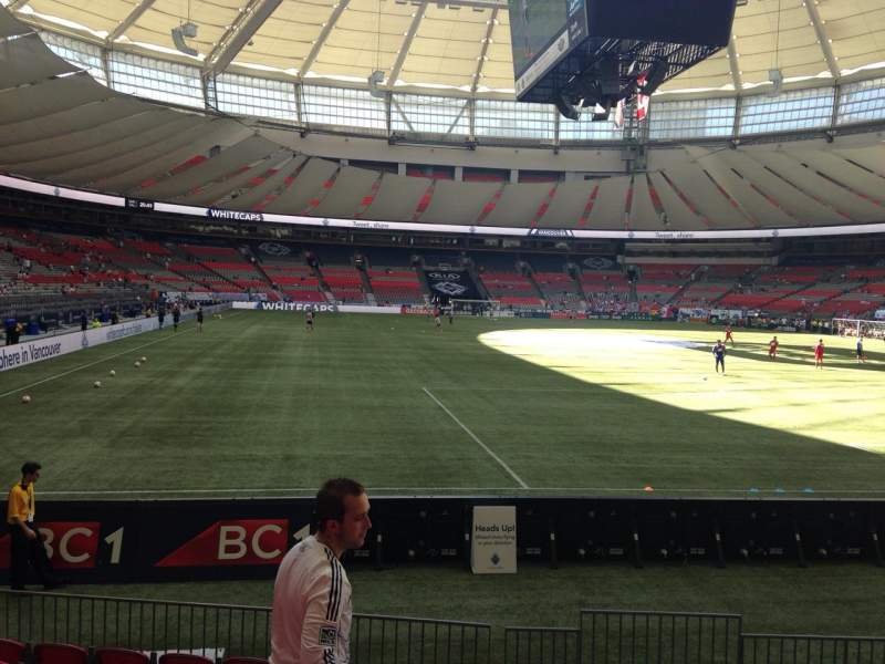 Seating view for BC Place Section 231 Row E Seat 102