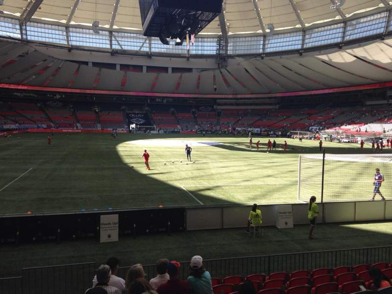 Seating view for BC Place Section 229 Row F Seat 1