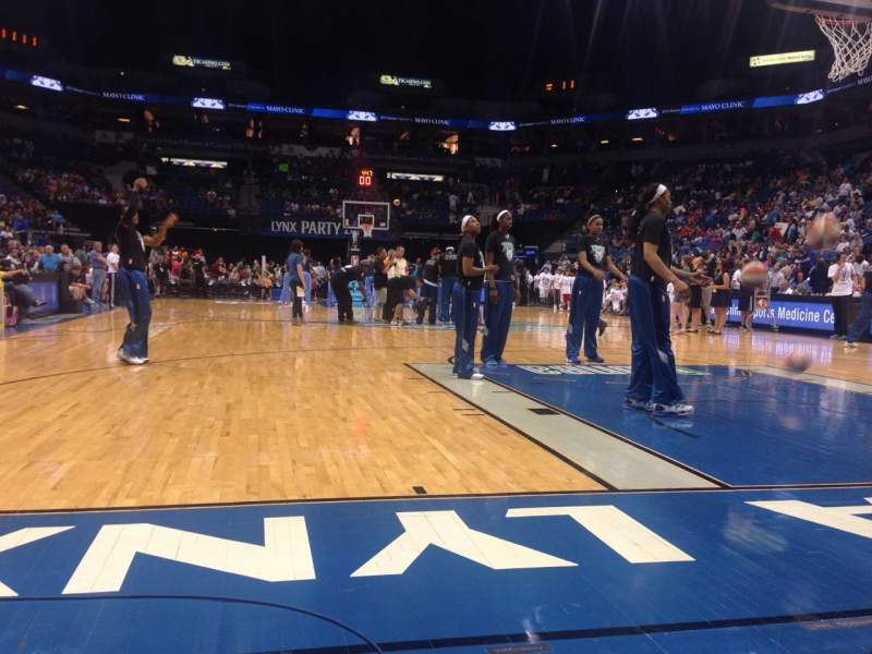 Target Center, section: 2, row: 2, seat: 5