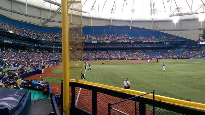 Seating view for Tropicana Field Section 140 Row T Seat 10