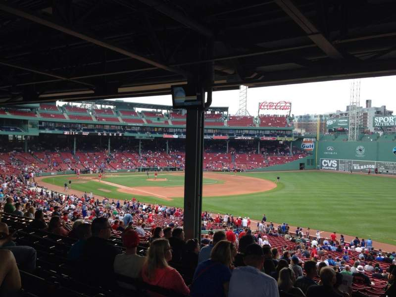 Seating view for Fenway Park Section Grandstand 8 Row 12 Seat 26