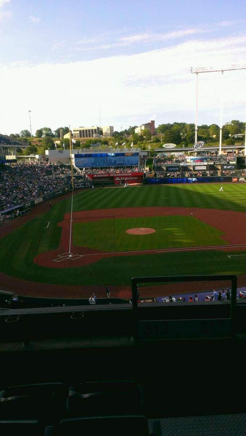 Seating view for Kauffman Stadium Section 312 Row D Seat 17