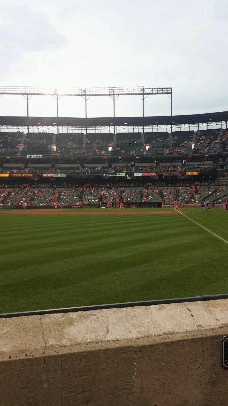 Seating view for Oriole Park at Camden Yards Section 74 Row 2 Seat 11-12