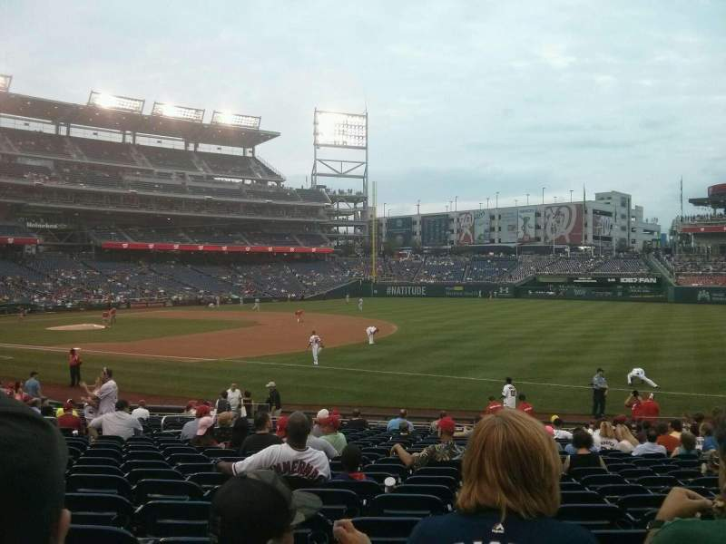 Seating view for Nationals Park Section 133 Row AA Seat 8