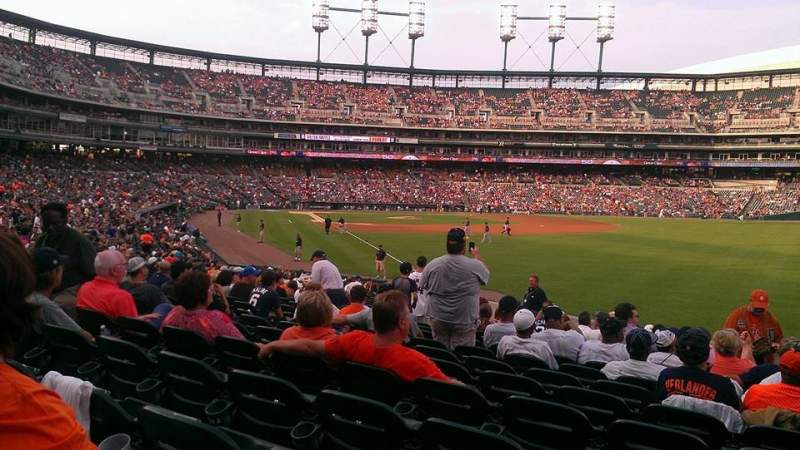 Seating view for Comerica Park Section 112 Row 29 Seat 12
