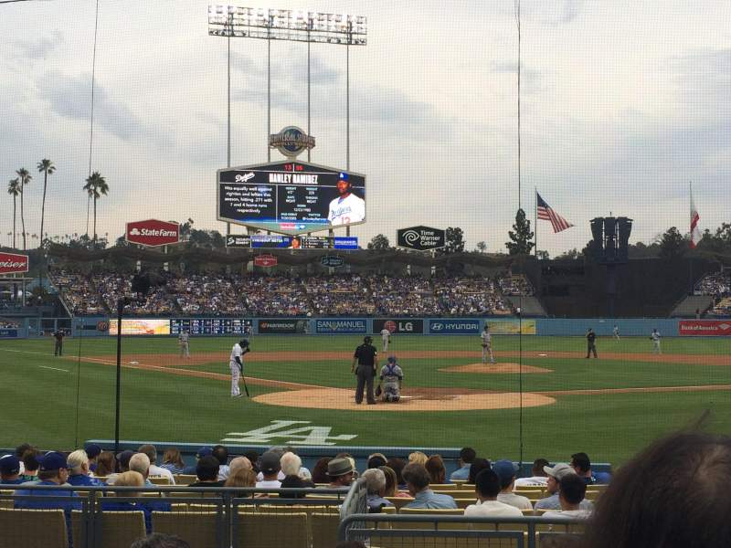 Seating view for Dodger Stadium Section 4FD Row E Seat 3