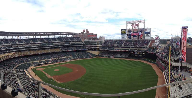 Seating view for Target Field Section 303 Row 2 Seat 3