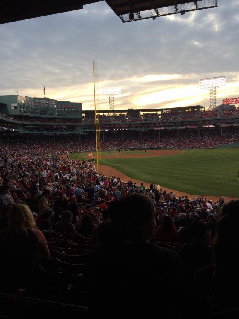 Seating view for Fenway Park Section Grandstand 4 Row 4 Seat 104