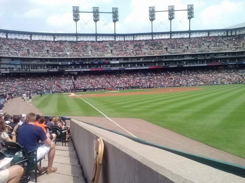 Seating view for Comerica Park Section 112 Row 15 Seat 19