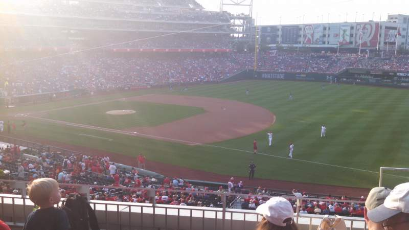 Seating view for Nationals Park Section 223 Row D Seat 3