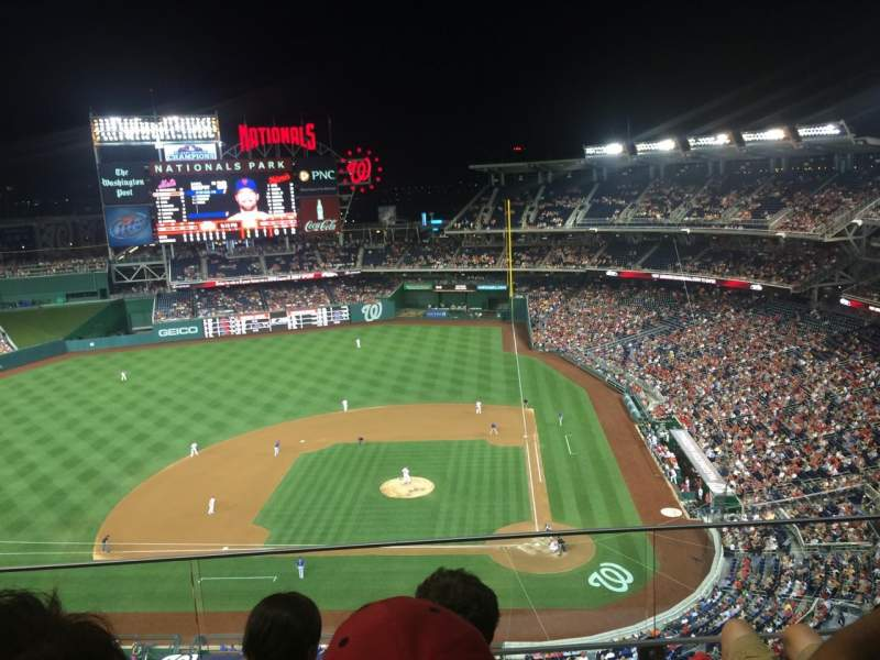 Seating view for Nationals Park Section 409 Row C Seat 8