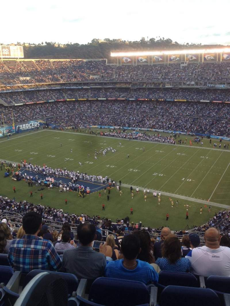 Seating view for Qualcomm Stadium Section V11 Row 18
