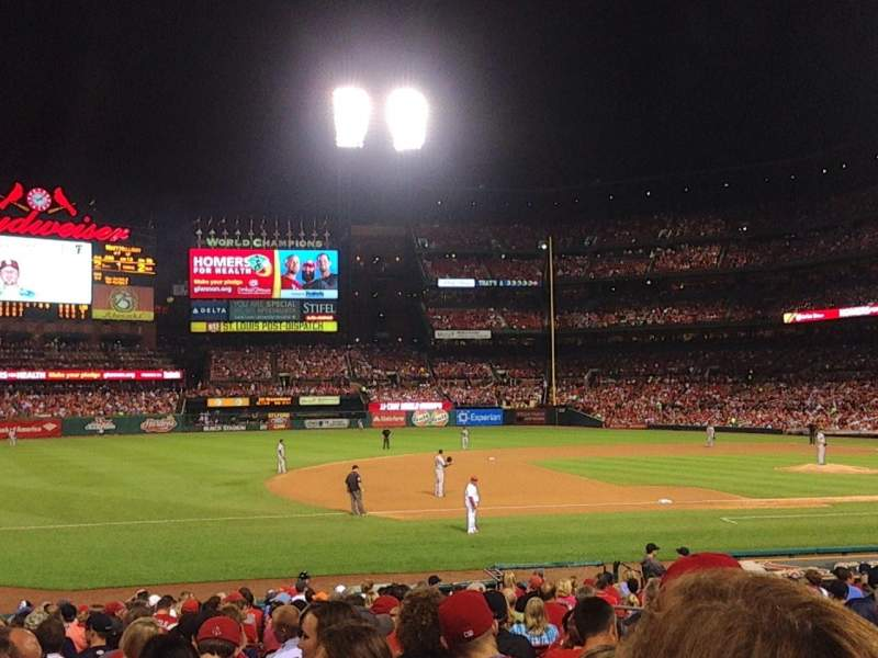 Seating view for Busch Stadium Section 160 Row 10 Seat 6