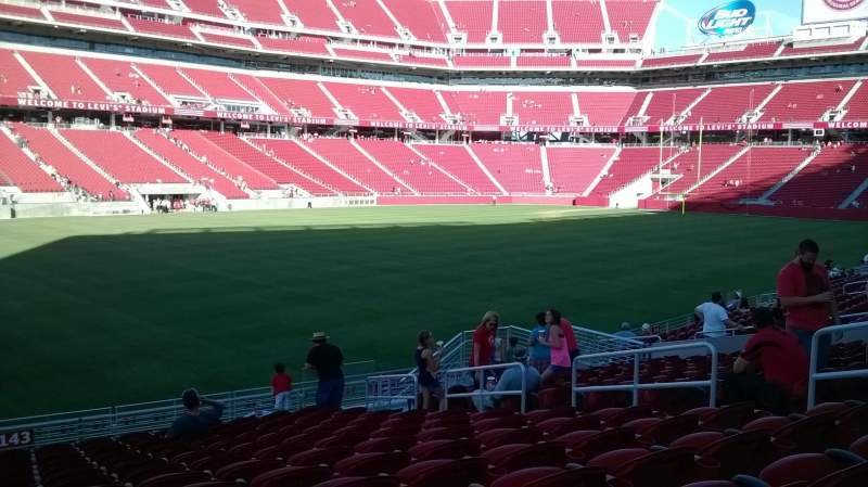 Seating view for Levi's Stadium Section 143 Row 17