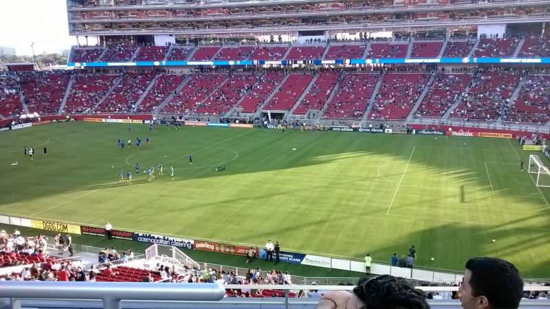 Seating view for Levi's Stadium Section 211 Row 3 Seat 4