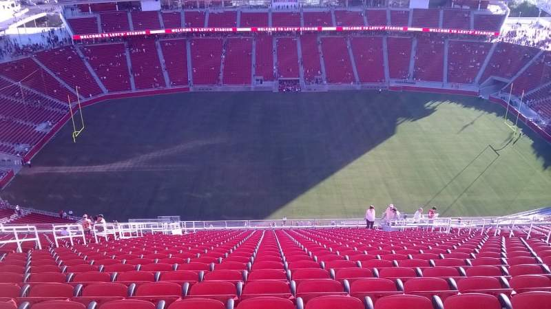 Seating view for Levi's Stadium Section 412 Row 27