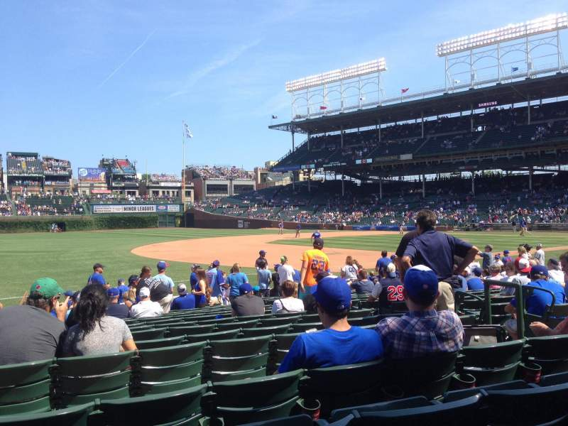 Seating view for Wrigley Field Section 109 Row 3 Seat 2
