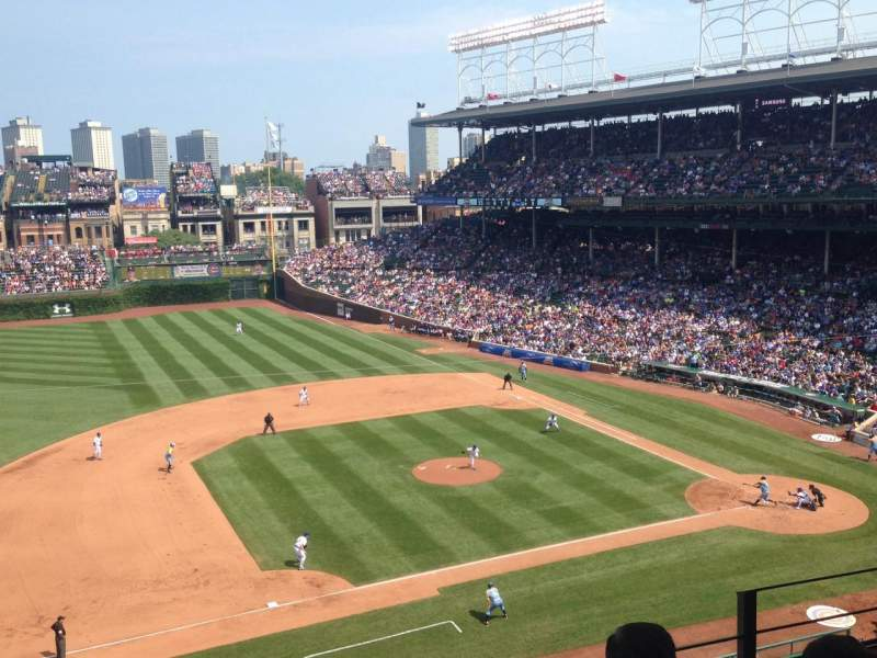 Seating view for Wrigley Field Section 411 Row 4 Seat 105