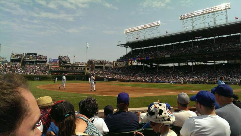 Seating view for Wrigley Field Section 9 Row 2 Seat 6