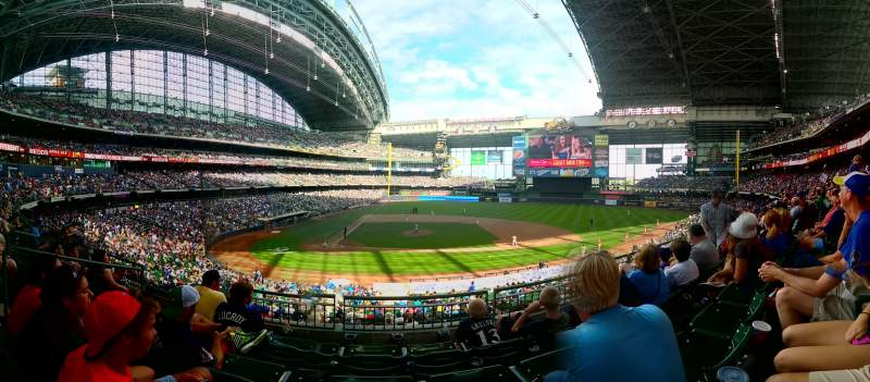 Seating view for Miller Park Section 214 Row 4 Seat 6