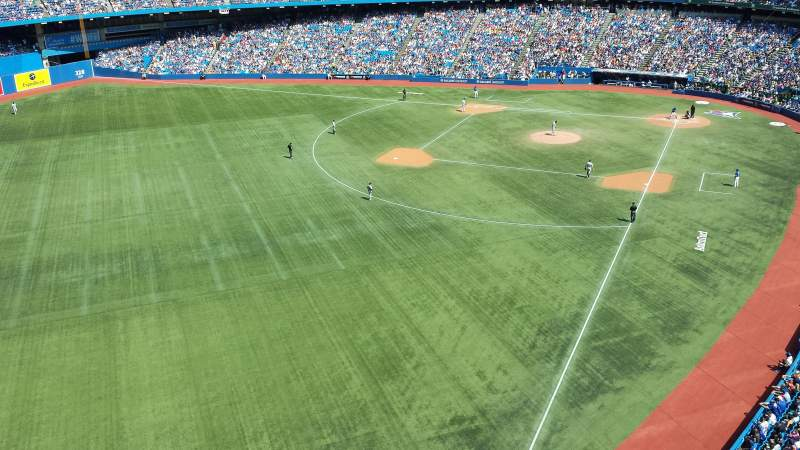 Seating view for Rogers Centre Section 538R Row 1 Seat 1
