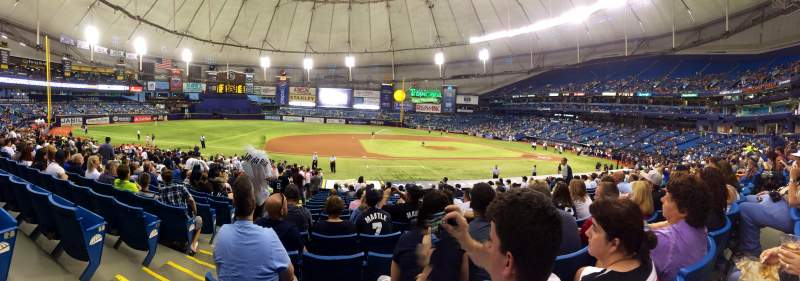 Seating view for Tropicana Field Section 117 Row AA