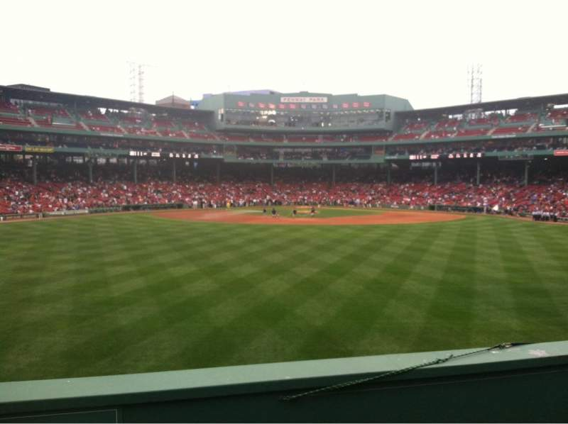 Seating view for Fenway Park Section Bleacher 35 Row 3 Seat 11