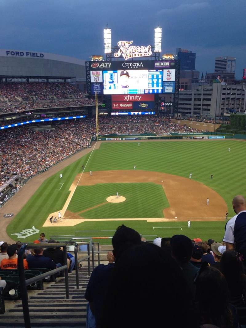 Seating view for Comerica Park Section 322 Row 16 Seat 24