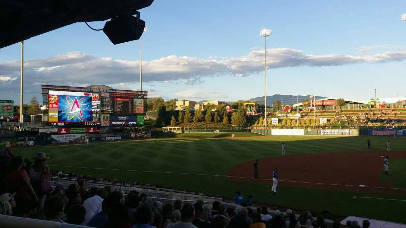 Seating view for Isotopes Park Section 111 Row S Seat 2