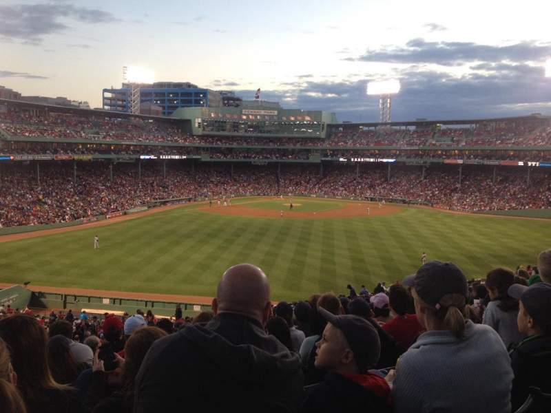 Seating view for Fenway Park Section Bleacher 38 Row 33 Seat 8