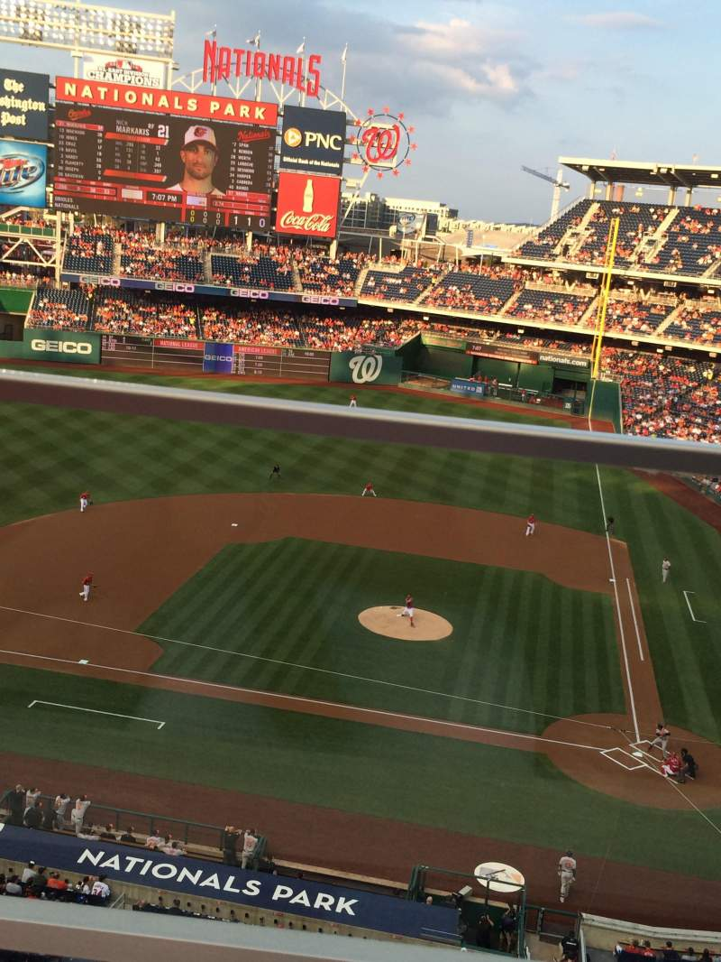 Seating view for Nationals Park Section 309 Row A Seat 1