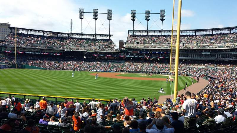 Seating view for Comerica Park Section 145 Row aa Seat 15
