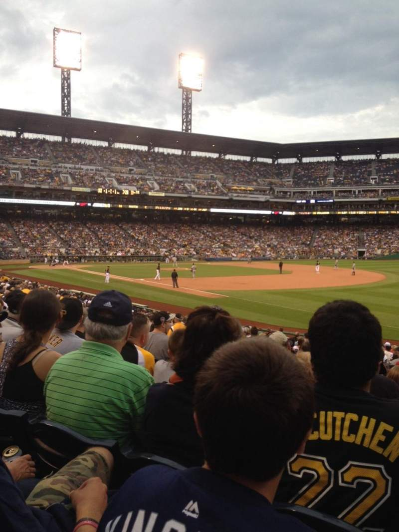 Seating view for PNC Park Section 103 Row L Seat 11