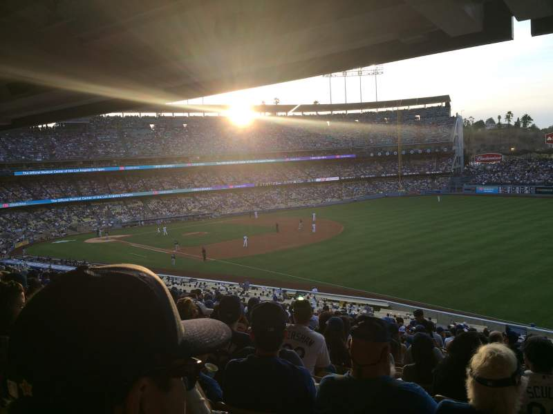 Seating view for Dodger Stadium Section 154LG Row t Seat 17