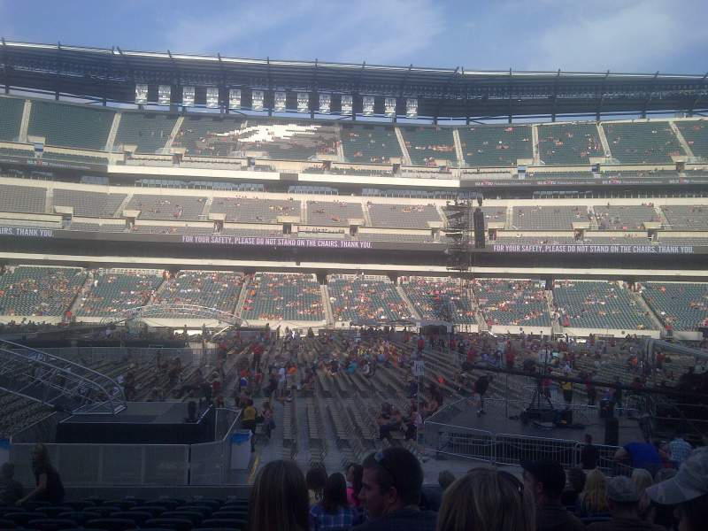 Seating view for Lincoln Financial Field Section 101 Row 13 Seat 11