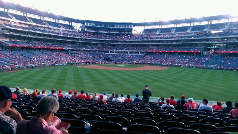 Seating view for Nationals Park Section 142 Row N Seat 11