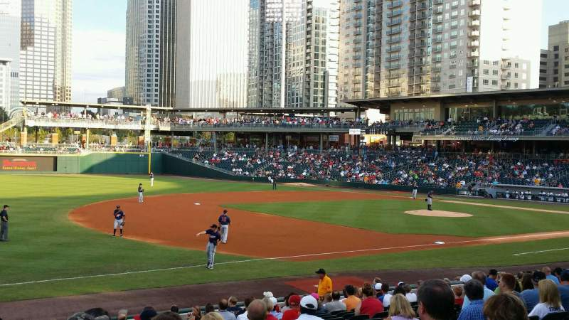 Seating view for BB&T Ballpark (Charlotte) Section 118 Row T Seat 22