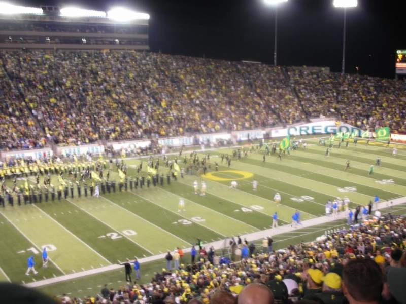 Seating view for Autzen Stadium Section 35 Row 51 Seat 16